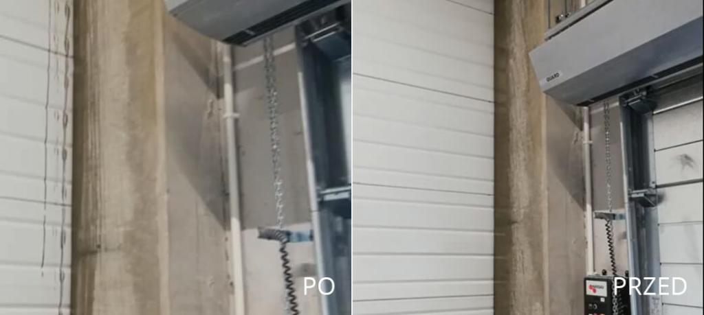 Doczyszczanie ścian z zacieków betonu