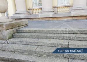 czyszczenie kostki brukowej i schodów