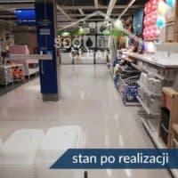 czyszczenie i akrylowanie posadzki w sklepie