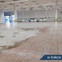 czyszcenie płytek w hali