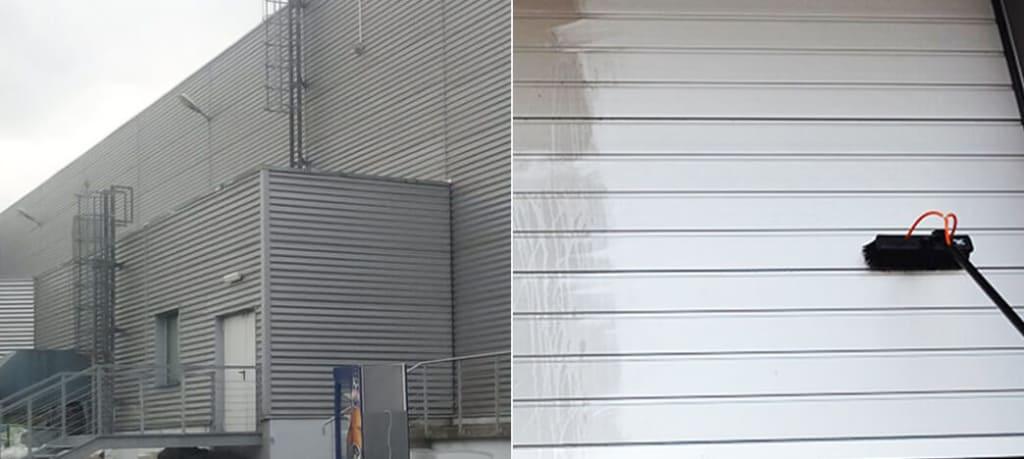 mycie elewacji z blachy i aluminium