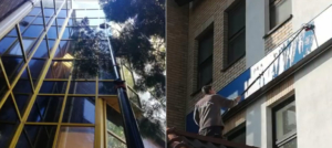 mycie fasad szklanych