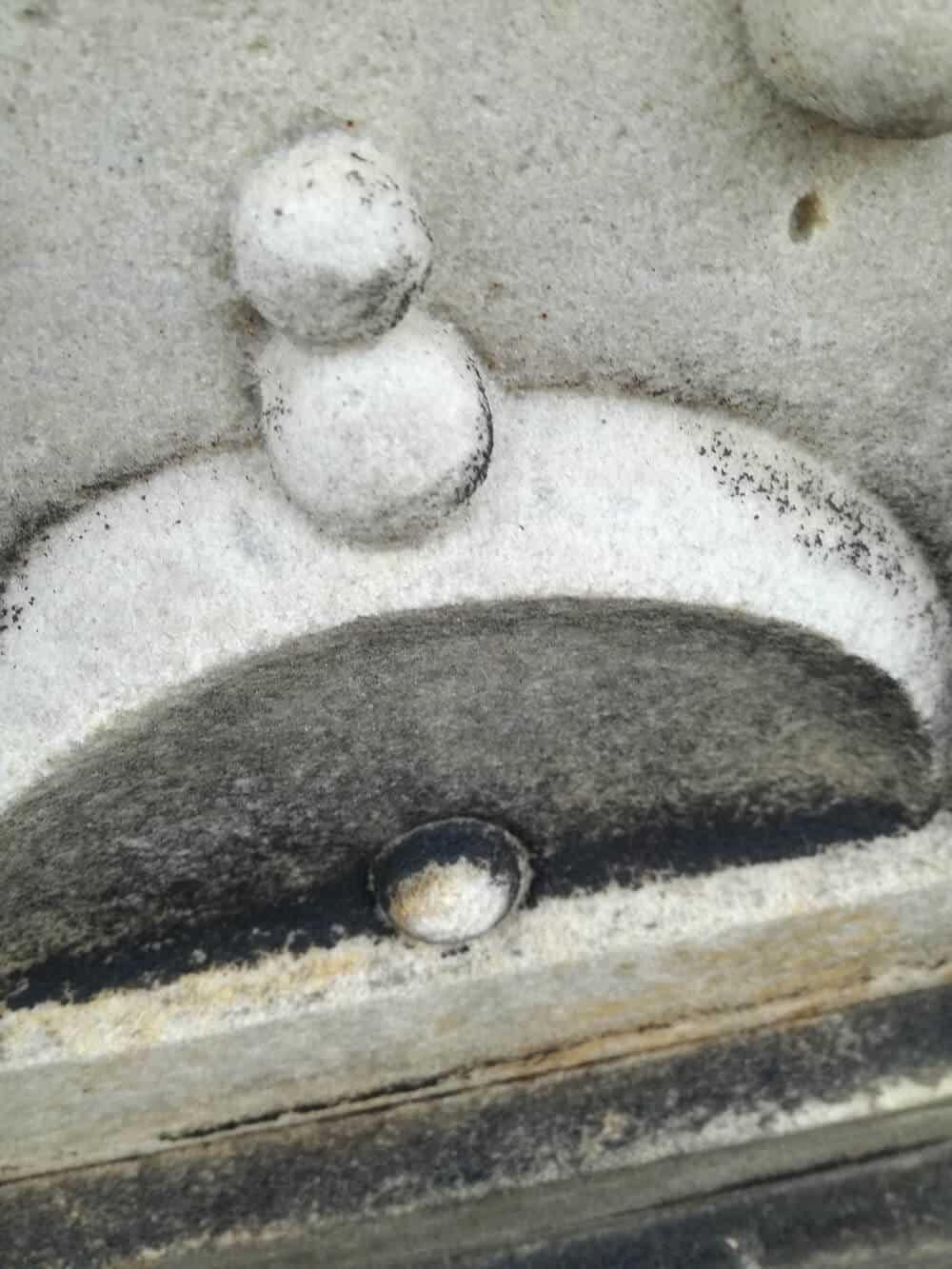 czyszczenie piaskowca - elementy zaokrąglone, z ornamentami