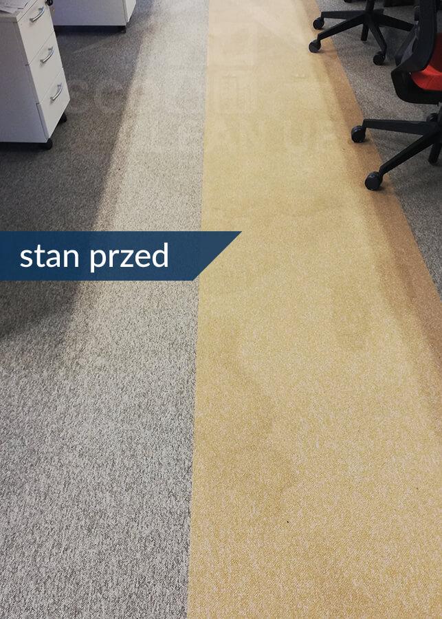 odplamianie wykladzin dywanowych stan przed