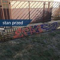 usuwanie graffiti Warszawa 7 stan przed